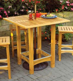 Bistro Patio Table and Stools Woodworking Plan, Outdoor Outdoor Furniture