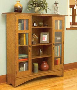 Mission Bookcase Downloadable Plan