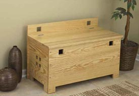 Bench with Storage Woodworking Plan, Furniture Seating Furniture Chests