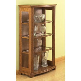 Bow Front Display Case Woodworking Plan, Furniture Bookcases & Shelving