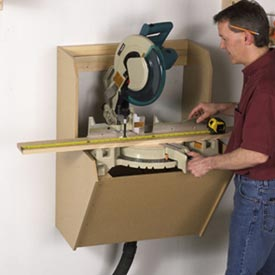 On-the-Wall Mitersaw Station Downloadable Plan