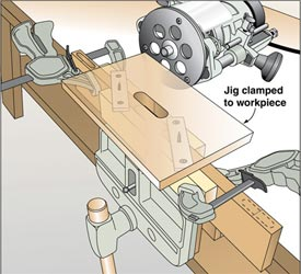 Self-Centering Mortising Jig Downloadable Plan