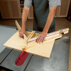 Shopmade Tablesaw Miter Sled Downloadable Plan