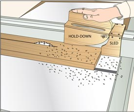 Fence-Riding Tablesaw Stock Feeder Downloadable Plan