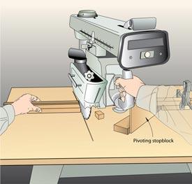 Radial-Arm Saw Stopblock Downloadable Plan