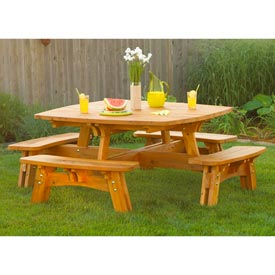 Fun-in-the-sun Picnic Table Woodworking Plan, Outdoor Outdoor Furniture