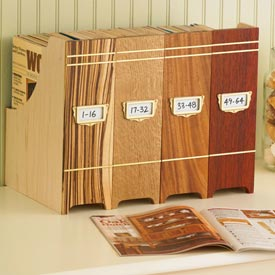 Collectors Magazine File Woodworking Plan, Gifts & Decorations Office Accessories Gifts & Decorations Boxes & Baskets