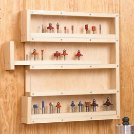 Easy-Access Router-Bit Storage Downloadable Plan