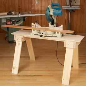 Knockdown Sawhorse Mini Bench