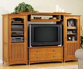 Entertainment Center Set Woodworking Plan, Furniture Entertainment Centers