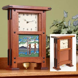 Greene & Greene-Style Clock Woodworking Plan, Gifts & Decorations Clocks
