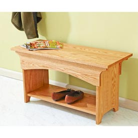 Bench with Storage Woodworking Plan, Furniture Seating