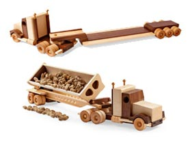 Construction-Grade Tractor/Trailer Woodworking Plan, Toys & Kids Furniture