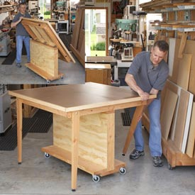 Fold-Flat 3-in-1 Workbench Downloadable Plan