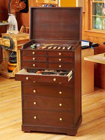 Heirloom Rolling Tool Cabinet Woodworking Plan, Workshop & Jigs Shop Cabinets, Storage, & Organizers