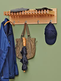 Coat and Hat Hanger Woodworking Plan, Furniture Bookcases & Shelving