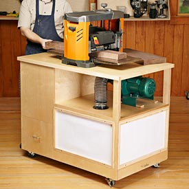 Dust-collecting Tool Stand Woodworking Plan, Workshop & Jigs Tool Bases & Stands