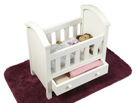 Darling Doll Bed Woodworking Plan, Toys & Kids Furniture