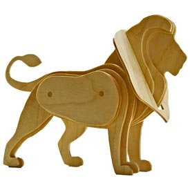3-D Scrollsawn Lion Woodworking Plan, Toys & Kids Furniture