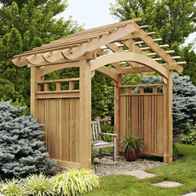 Arching Garden Arbor Downloadable Plan