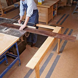 Extending Tablesaw Stock Support Woodworking Plan, Workshop & Jigs Jigs & Fixtures Workshop & Jigs $2 Shop Plans