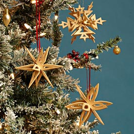 Interlocking Snowflake Ornaments Downloadable Plan