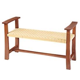 Woven-seat Bench Woodworking Plan, Furniture Seating