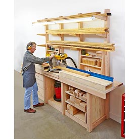 Multipurpose Workcenter Woodworking Plan, Workshop & Jigs, Shop Cabinets, Storage, & Organizers