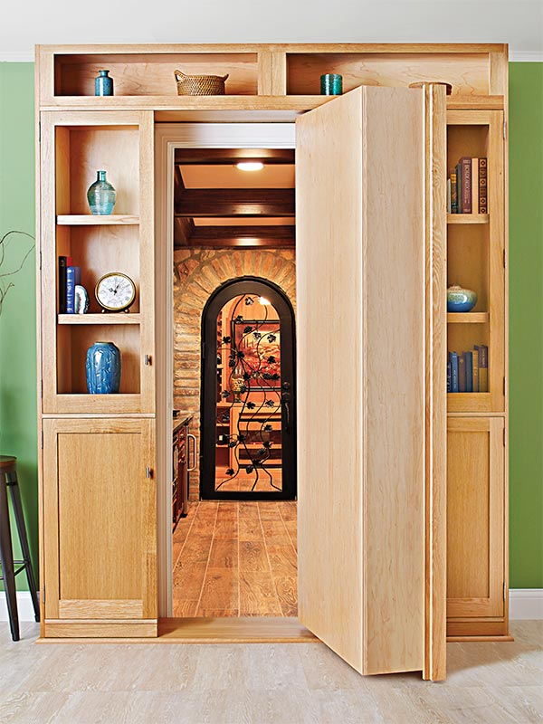 Hidden-door Bookcase Woodworking Plan, Furniture Bookcases & Shelving