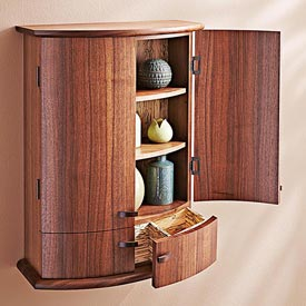 Coopered-door Cabinet Woodworking Plan, Furniture Cabinets & Storage Furniture Bookcases & Shelving