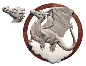 Dragon Intarsia Pattern