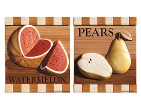 Watermelon & Pears Intarsia Pattern