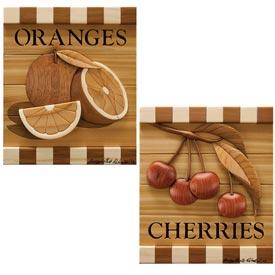 Cherries & Oranges Intarsia Pattern
