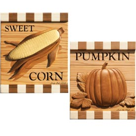 Corn & Pumpkin Woodworking Plan, Gifts & Decorations Scrollsaw, Carving, & Decorative Projects