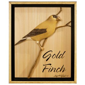 Gold Finch Intarsia Pattern