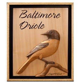 Baltimore Oriole Intarsia Pattern