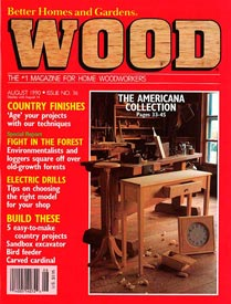 WOOD Issue 36, August 1990, WOOD Magazine