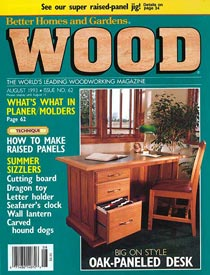 WOOD Issue 62, August 1993, WOOD Magazine
