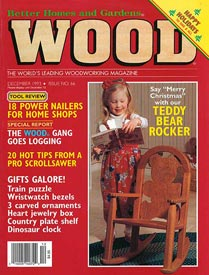 WOOD Issue 66, December 1993, WOOD Magazine