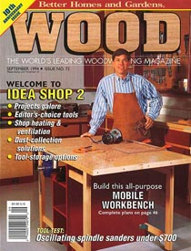 WOOD Issue 72, September 1994, WOOD Magazine