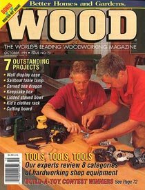 WOOD Issue 73, October 1994, WOOD Magazine