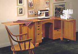Sewing Cabinet : Large-format Paper Woodworking Plan