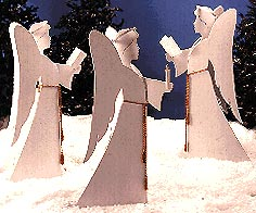 Angelic Chorus : Large-format Paper Woodworking PlanOutdoor Seasonal Yard Figures Holidays