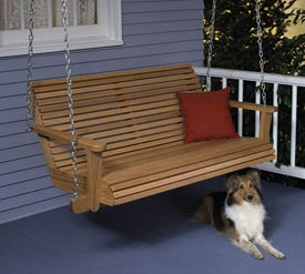 Porch Swing : Large-format Paper Woodworking Plan