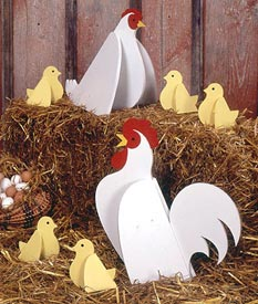 Chickens : Large-format Paper Woodworking Plan