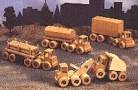 Wrecker, Dump Truck, and Heavy Haulers : Large-format Paper Woodworking Plan