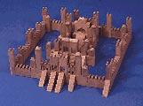 Building Block Castle : Large-format Paper Woodworking Plan