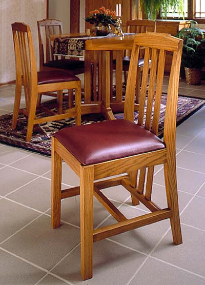 Arts and crafts dining chairs woodworking plan from wood for Arts and crafts furniture plans