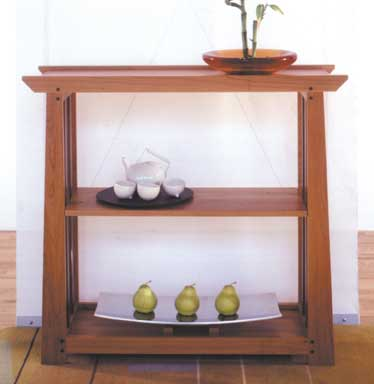 Arts and crafts shelves woodworking plan from wood magazine for Arts and crafts furniture plans