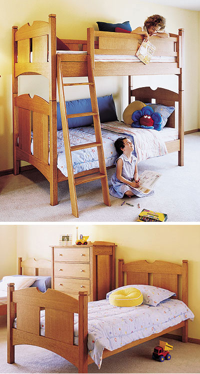 Kid 39 S Oak Bunk Beds Woodworking Plan From Wood Magazine